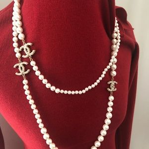 Classic Chanel 32 inch Pearl Necklace